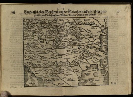 Harta Țărilor Române din ediția germană