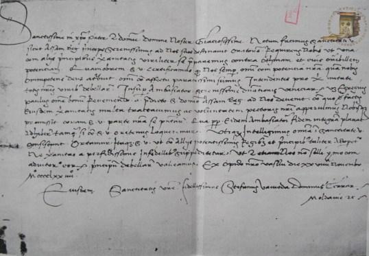 Document Stefan cel Mare, Vaslui, 1474