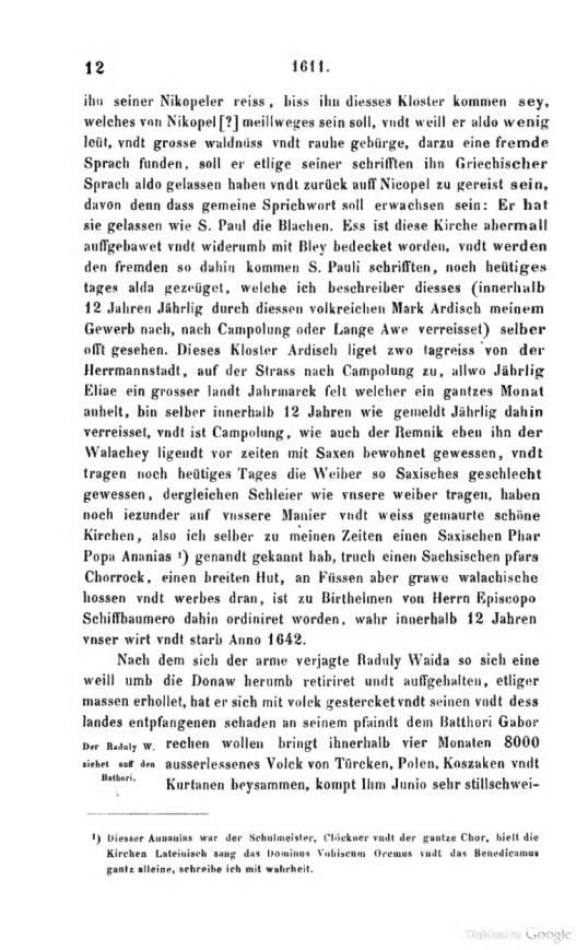 Georg Kraus, Cronica Transilvaniei 2